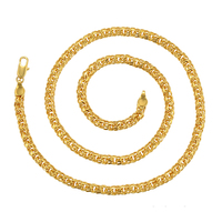 Xuping 24k gold plated necklace jewelry, fashion jewellery women chain, 24k saudi gold jewelry necklace