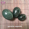 certified China hetian yu 100% natural nephrite jade eggs yoni eggs for kegel exercise with drilled hole
