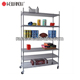 NSF Factory Industrial Metal Mobile Storage Wire Racks Shelving Systems
