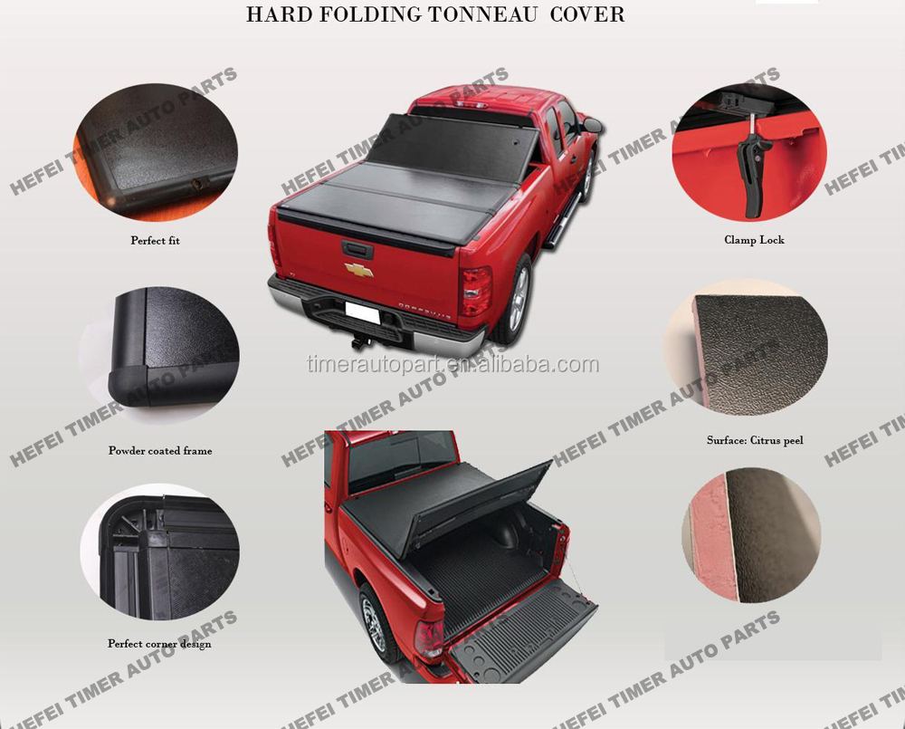 For VW_Amarok_Double Cab tonneau cover 3years warranty tri-fold tonneau cover