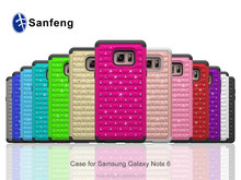 Rhinestone Crystal Bling Hybrid Mobile Phone Case Cover for Samsung Galaxy Note 6 7