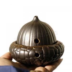 best selling home decoration porcelain black color incense holder chinese incense burner antique