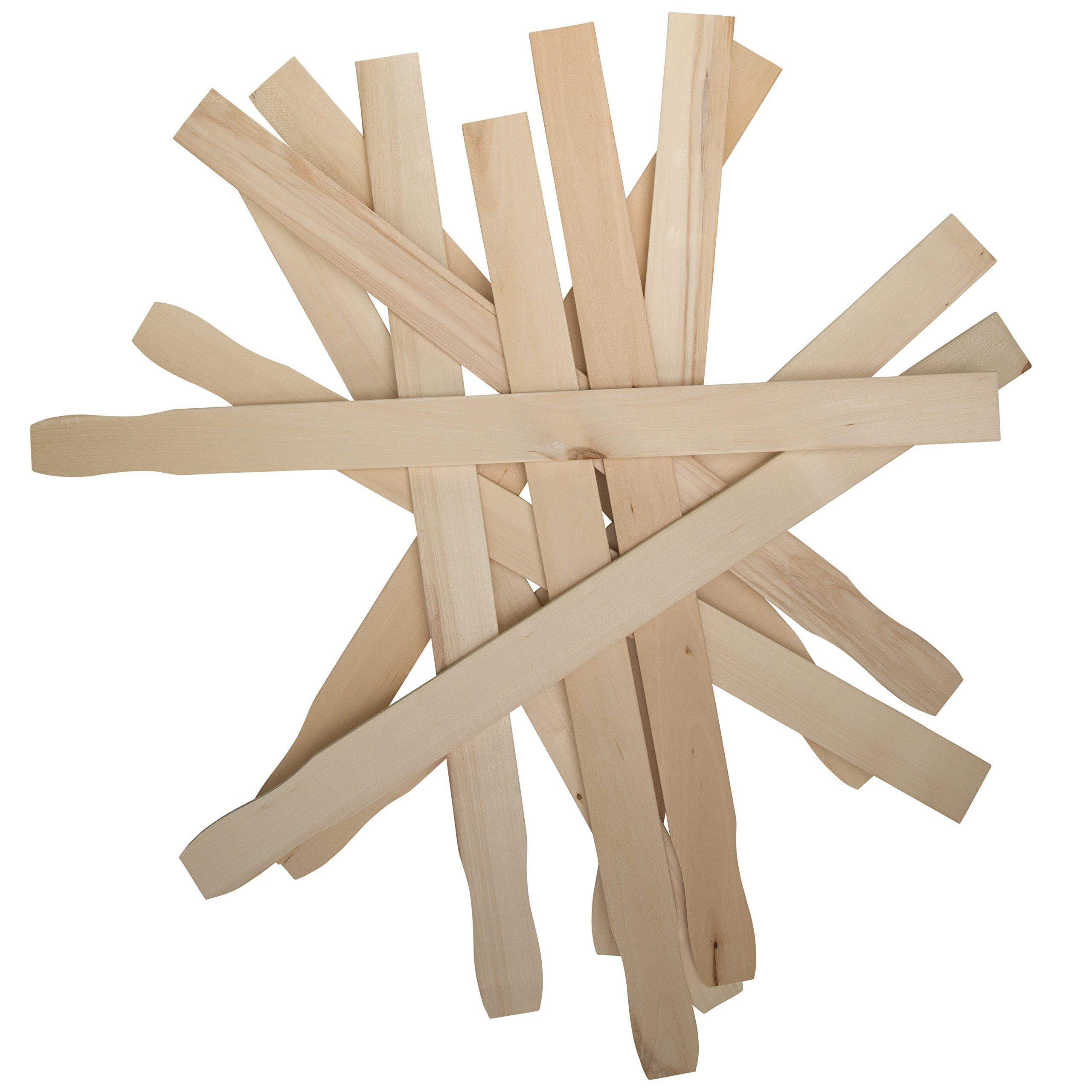 Paint Sticks 12 Inch Paddles -Bulk Pack of 100 Sanded Hardwood Stirrers- Paint stirring, Wax, Mix Epoxy, Resin or Slime making - For Wood Crafts, Garden or Library Markers – By Woodpeckers