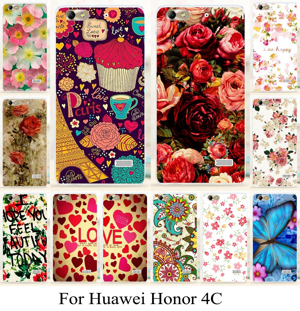 for Huawei honor4c honor 4c beautiful background phone case cover skin  shell painting phone bag new arrival mobilephone case