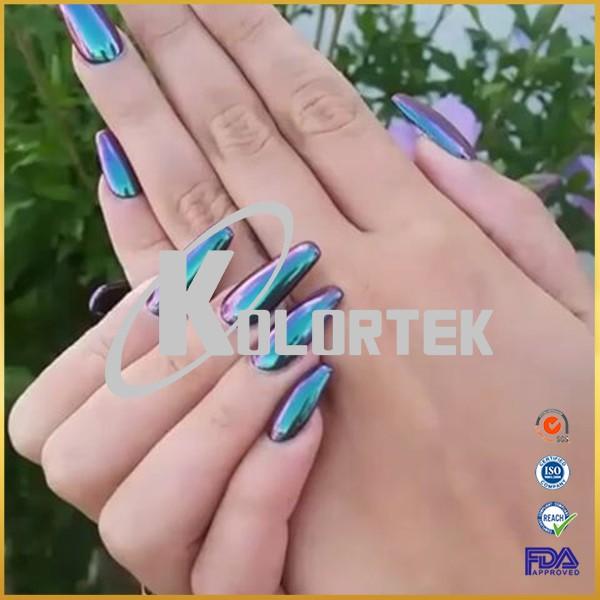 Chameleon nail chrome powder nail dip powder mirror effect powder ...