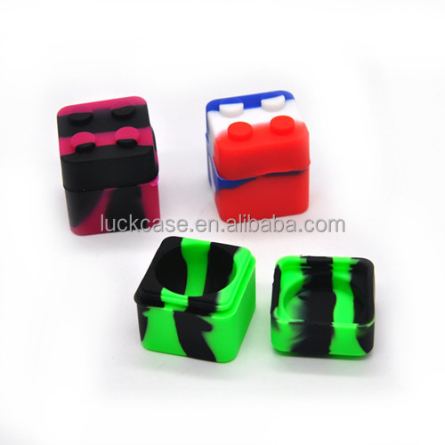 2017 Amazon New Design Small Square Cube Design Multi-functional Durable BPA Free Eco-friendly Drug Box Silicone Medicine Box