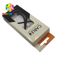 5.5x12.5x2cm Custom printed USB Data Cable Packaging Display Paper Box with Hang Hole