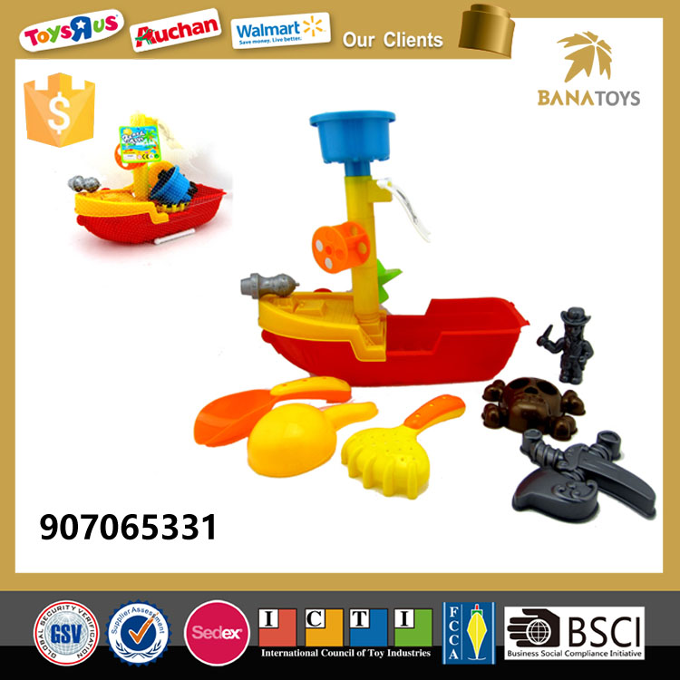 Summer play pirate boat toy with shovel
