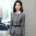 Ladies hotel housekeeping skirt suit manager hotel uniform slim fit company front desk reception uniform OEM design work wear