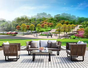 high quality wholesale fashion outdoor furniture couch flat pack furniture garden rattan sofa wide cane sofa AA2008
