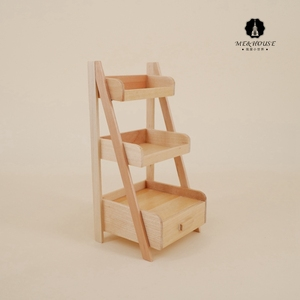 New Dollhouse Wood Shelf Flower Stand Mini Doll House Handmade Furniture Model Miniatures Wholesale