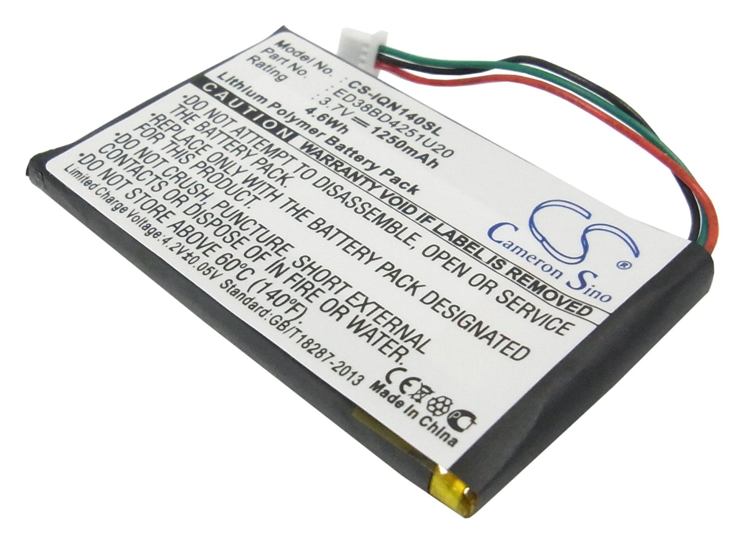 VINTRONS Rechargeable Battery 1250mAh For Garmin Nuvi 1450, Nuvi 1400, Nuvi 1490T