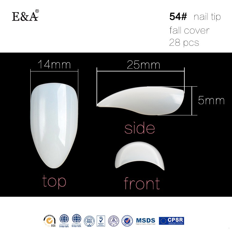EA fengshangmei imported ABS free sample nail art artificial nail wholesale false nails