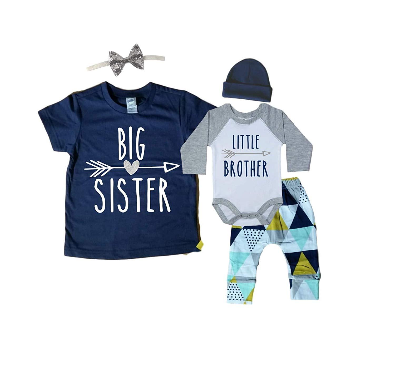 9a9de1129 ... shirt is 5T. Get Quotations · Big Sister/Little Brother Set. Matching Big  Sister Little Brother Set 0-3Mo