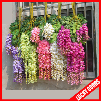 High quality hanging long stem silk flowers wisteria buy long stem high quality hanging long stem silk flowers wisteria mightylinksfo