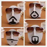 Face shaped EVA tabletop wall mounted eyewear display stand