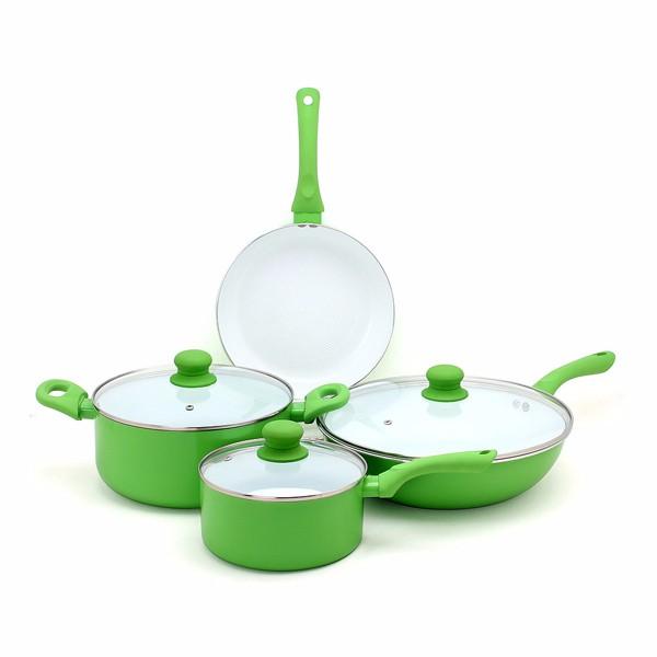 Todd English Color Ceramic Nonstick 11-Piece Cookware Set ... |Colorful Ceramic Cookware