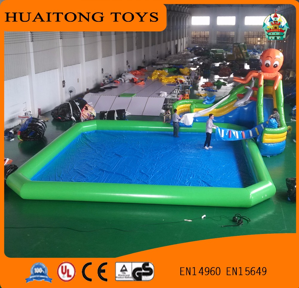 Giant pvc inflatable swimming pool large size plastic for Large size inflatable swimming pool