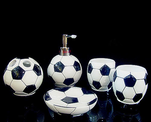 Kids Bathroom Accessories Sets Football Household Resin Names Home Accessory Set Product