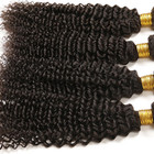 Brazilian Kinky Curly Hair 4 Bundles Jerry Curl Human Hair Non Remy Hair Extension Jet Black
