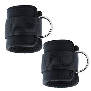 Neoprene ankle strap ankle brace with D Ring cuff