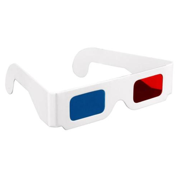 Red Blue Cyan Foldable Paper Cardboard Custom 3D Glasses