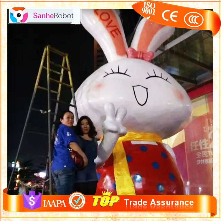 Sanhe market life size cartoon animal sculpture for park,Rabbit