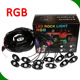 low voltage RGB led lighting off car rock lights for road boats RGB rock light led pods with music mode bluetooth control by APP