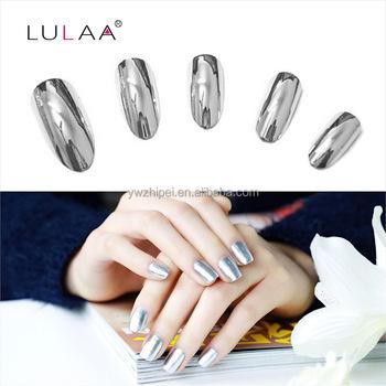 Lulaa High Quality 6ml Mirror Nail Polish Base Gel Metal Silver L Off
