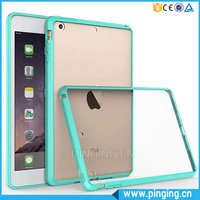 Candy Color TPU Bumper Crystal Transparent Acrylic Hard Case For iPad Mini 1 2 3 Cover Case