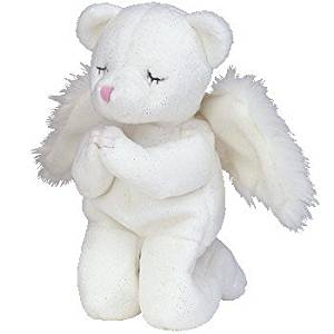 Get Quotations · TY Beanie Baby - BLESSED the Angel Bear 498742f3be68