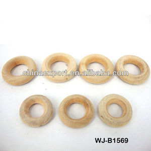 DIY unfinished wooden rings wooden beads/bulk in stock WJ-B1569