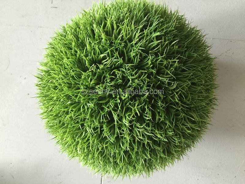 2017 Artificial plant decoration colored plastic grass flower ball