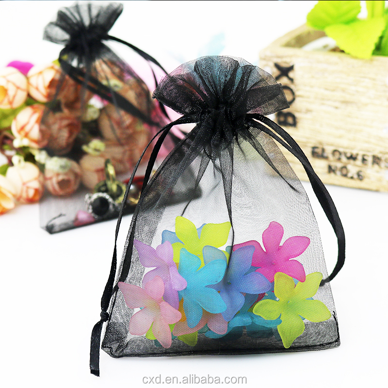 Beautiful 100Pcs Christmas Snowflaker Organza Jewelry Gift Pouch Bag N7