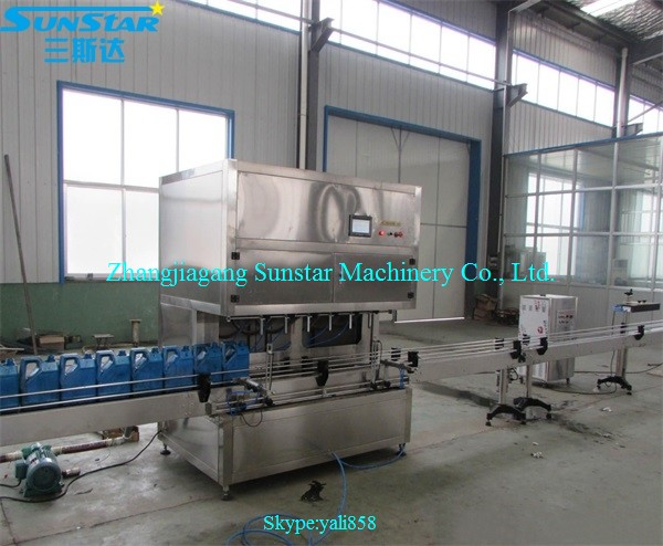 Automatic linear type oil liquid water bottling companies for olive cooking sunflower oil in bottle barrel or jar can