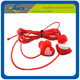 factory offer silicone love heart earphone for gift in blister package from Coca audited factory EN71 standard