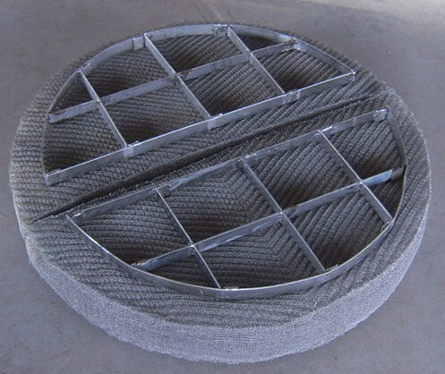 Stainless Steel oil demister wire mesh demister in boiler steam drum with High Quality