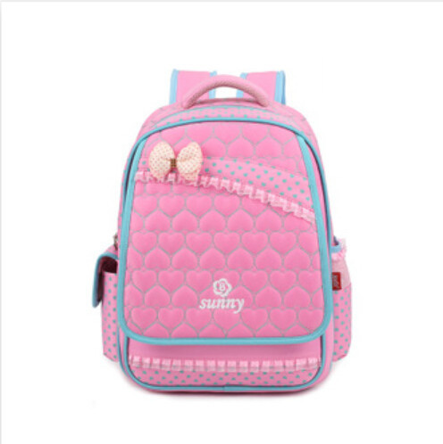 Buy Pink Lace Backpack With Bow School Bags Book Bags for Girl in ...