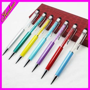 Promotional sreen touch ball pen 2-in-1 promotional smart stylus wholesale crystal pen