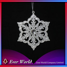 Brand New Plastic Ice White Snowflake Ornament for Christmas Tree Decoration Sets, Holiday Hanging Decoration