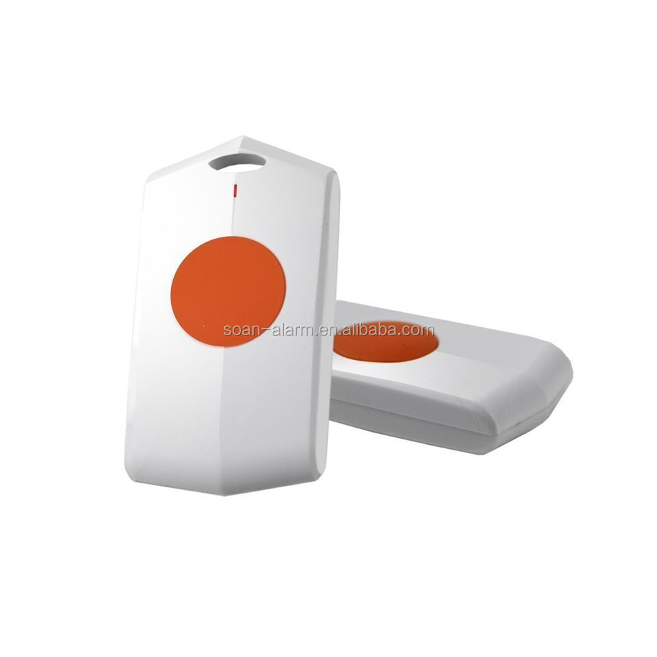Elder Patient SOS Panic Button ,Fall Down Alarm System with GSM Service Senior Care Products