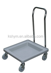 rack dolly with handle glass rack trolley