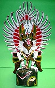 "Garuda handmade wood carving from Bali Indonesia 28"" size White"
