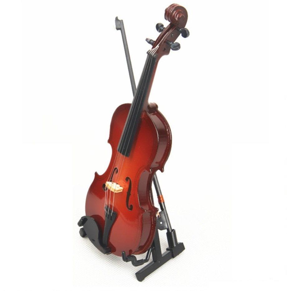 Violin Gift Miniature Violin Crafts Mini Violin Attractive Birthday Gift