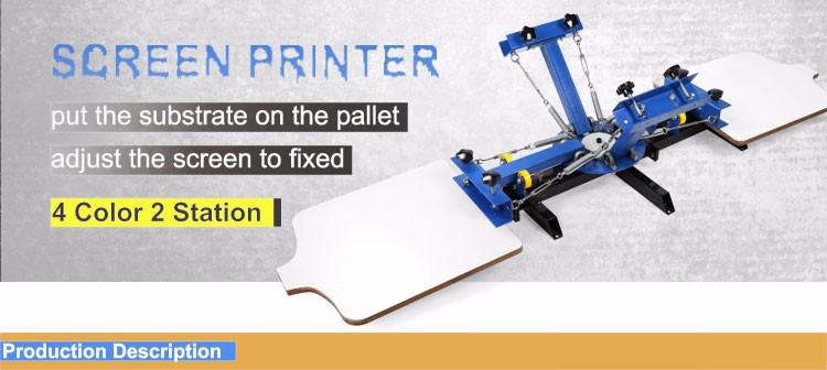 af165547 ... VEVOR 4 color 2 station Screen Printing PRESS Machine for T-shirt FREE  SHIPPING