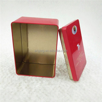 red color tea packaging tin box with glossy design audit by SGS/ISO/SEDEX with OEM service
