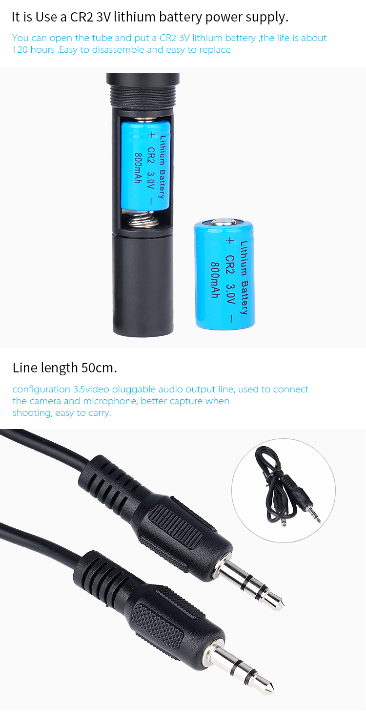 Yelangu Mic-01Professional Aluminum alloy Sing Machine Two mode Wired Video Microphone