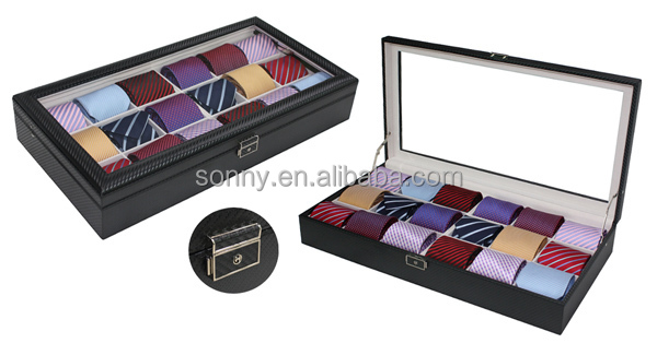 grande taille en cuir noir titulaire bo tes d 39 emballage cravate caisses d 39 emballage id de. Black Bedroom Furniture Sets. Home Design Ideas