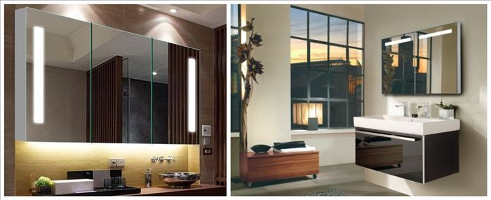 Wall Mounted Aluminum Bathroom Mirror Cabinet Buy Bathroom Mirror