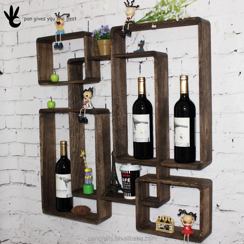 Pan mur décoratif suspendu Cuisine Chambre salon bois étagère ...